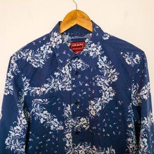 CHAPS Denim Men Size S Shirt SouthWestern Floral